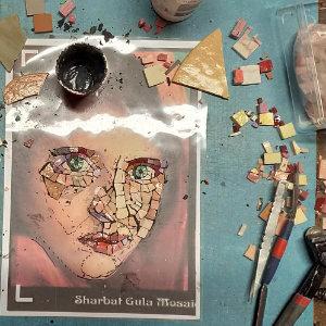 Mosaik-Gesicht