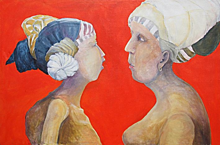 Acrylgemälde unn wie gehts? Tanja Lebski