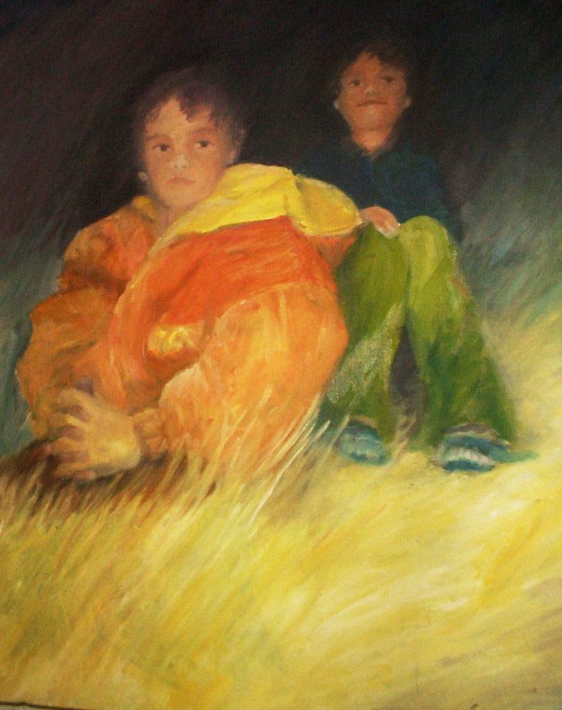 Ölgemälde die Kinder Tanja Lebski