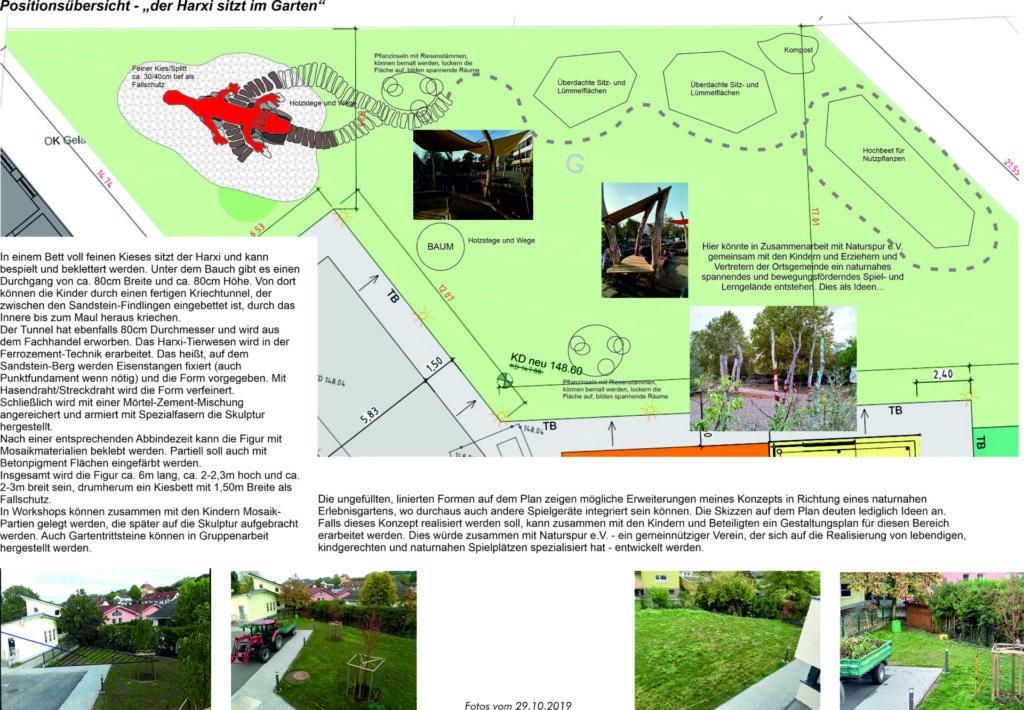 Lebski-Harxheim - Entwurf 1 Ansicht von oben