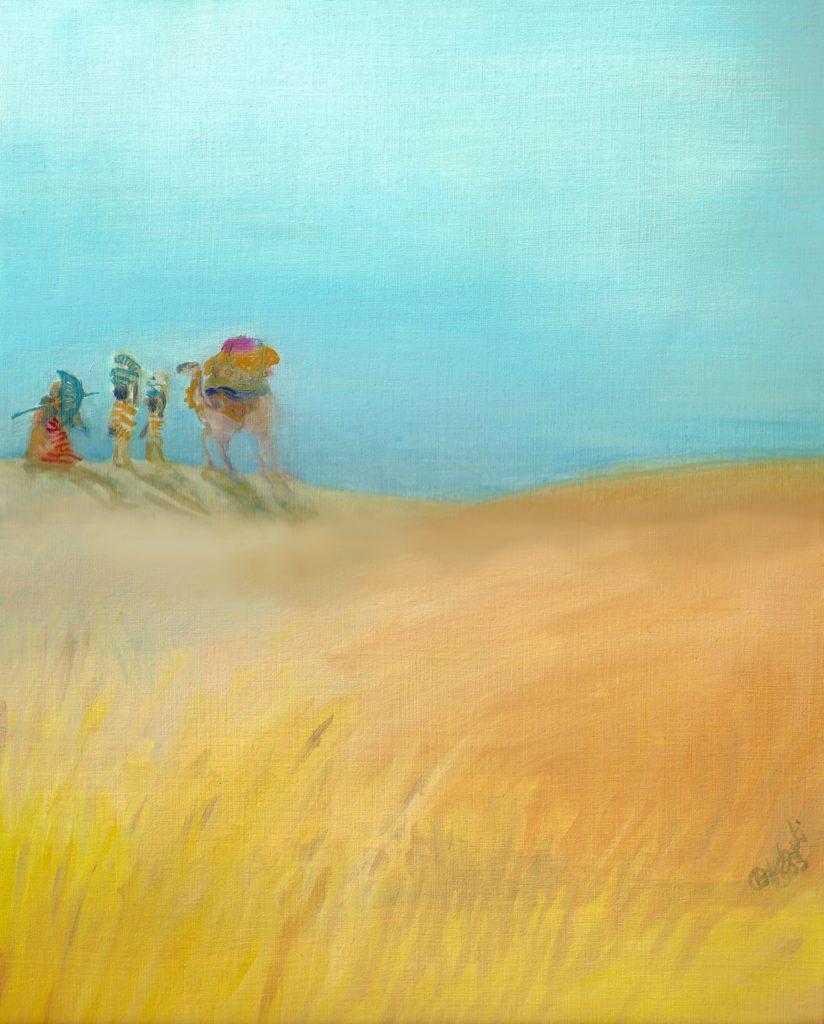 Ölgemälde Sahara Tanja Lebski