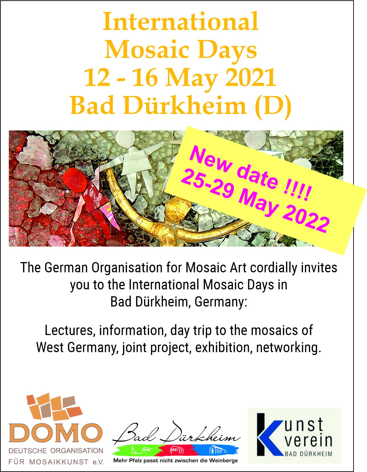 """News - internationale Mosaiktage<br />25.-29. Mai 2022 Bad Dürkheim<br />DOMO e.V.<br />und Ausstellung """"Chaos und Ordnung"""" - 3"""